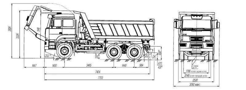 Урал-63685 габариты