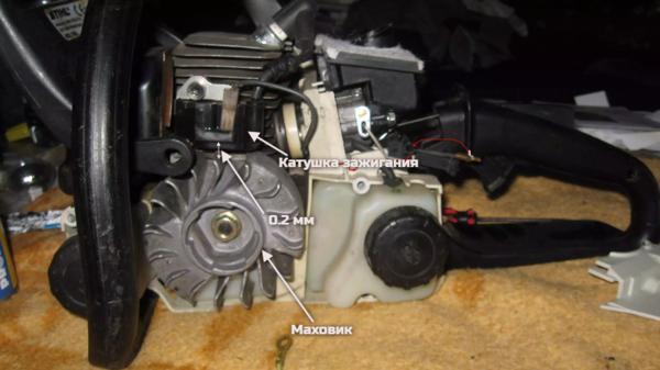 Регулировка зажигания бензопилы Stihl MS180