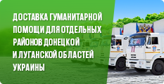 Доставка гуманитарной помощи для отдельных районов Донецкой и Луганской областей Украины