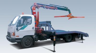 Эвакуатор Hyundai с КМУ, краном манипулятором