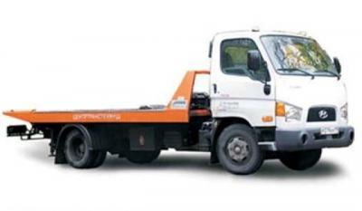 эвакуатор Hyundai со сдвижной платформой