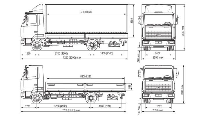 Схема МАЗ 4371