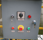 Вид щитка управления строительной люльки LittleSwan ZLP 500, ZLP 630