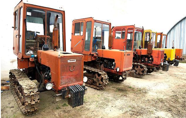 Ходовой блок и управление трактора Т-70