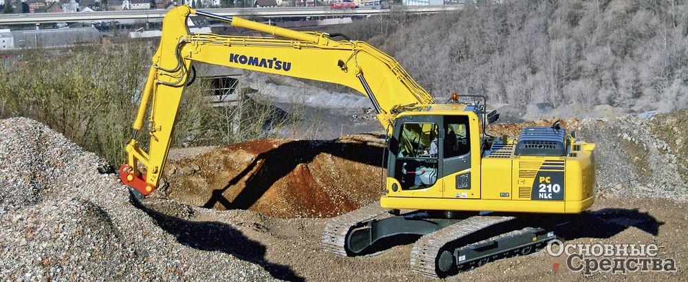 Одним из преимуществ Komatsu PC210NLC-8 мощностью 116 кВт с максимальной эксплуатационной массой 23 360 кг является ширина по гусеницам