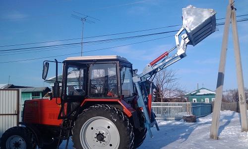 Самодельный погрузчик для трактора