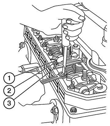Регулировка зазора клапанов