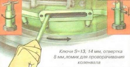 Схема регулировки клапанов КАМАЗ Евро-3